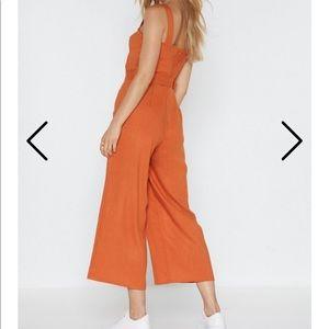Nasty Gal Pants & Jumpsuits - Nasty Gal Orange Jumpsuit